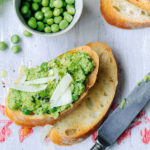Minted Pea Puree Crostini