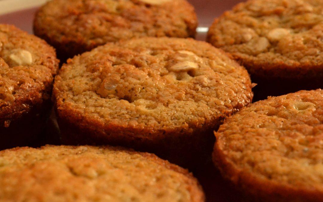 Cinnamon Muffins with lemon honey glaze