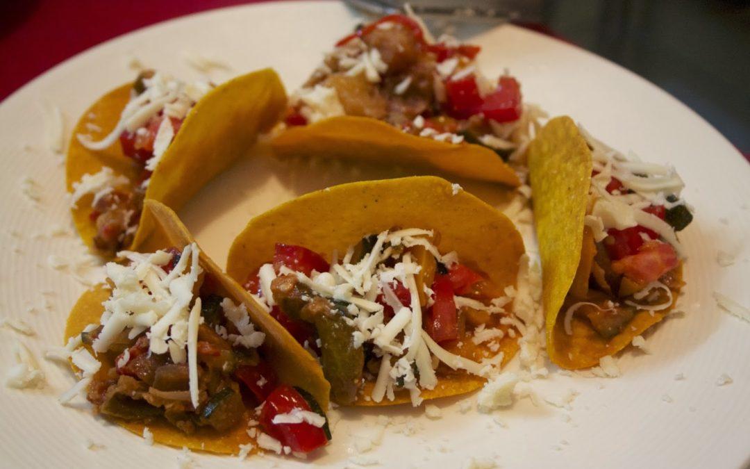 Zucchini, Tomato, Pepper Tacos